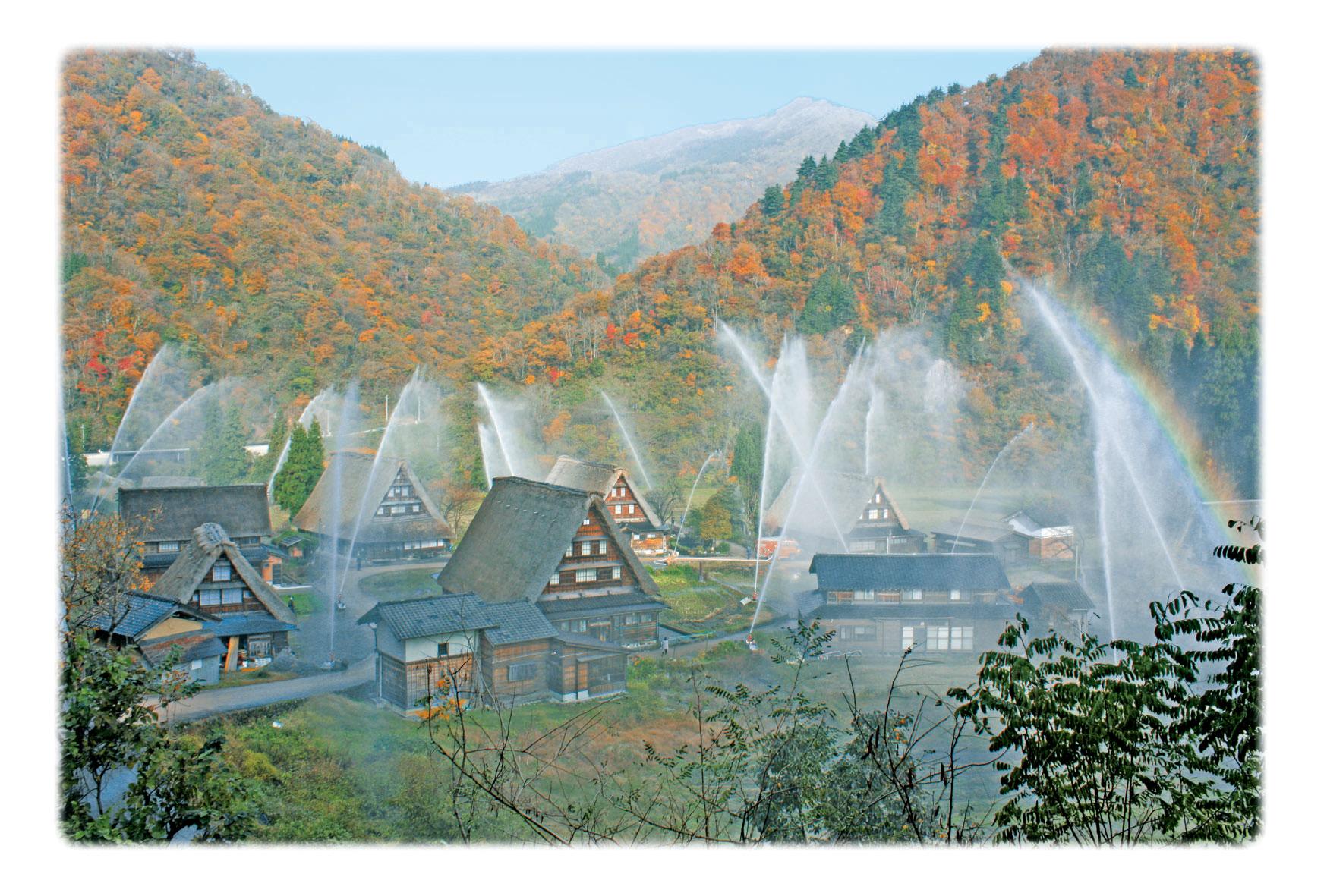 秋の一斉放水の色抑えめweb